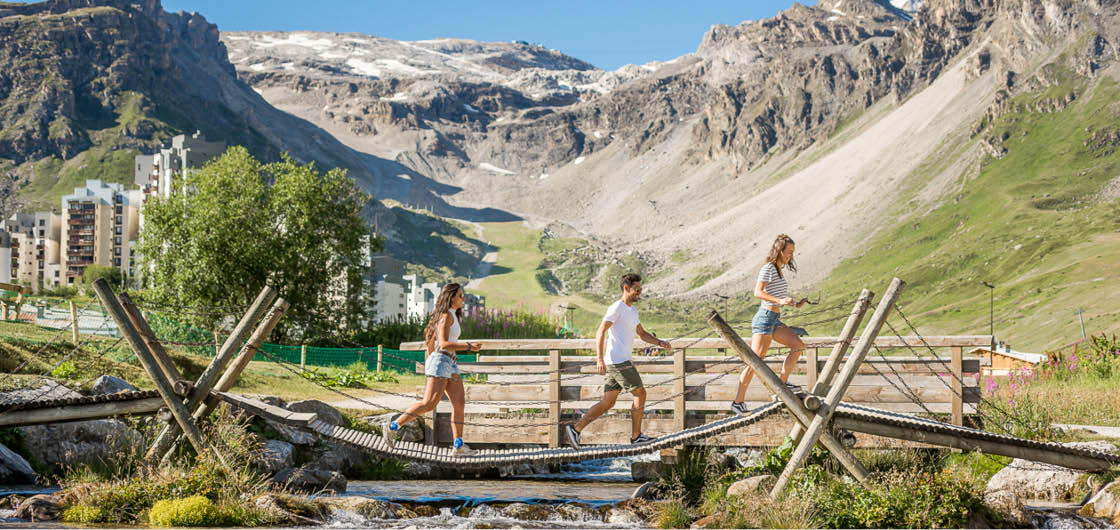 Tignes, the ideal destination for mountain holidays in summer